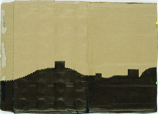 Duan Jianyu, Beautiful Dream No.3, 2008, Ink on cardboard, 38.5 x 54cm. Courtesy the artist and Vitamin Creative Space